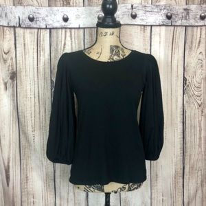 🥑4/$22🥑NWT LOFT Black Balloon Sleeve Blouse XS